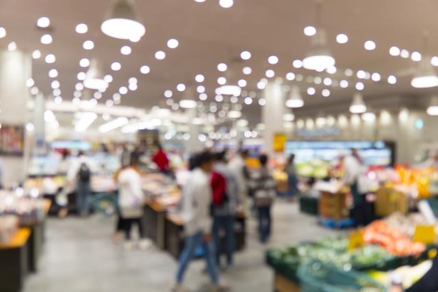 いつものスーパーマーケットの習慣